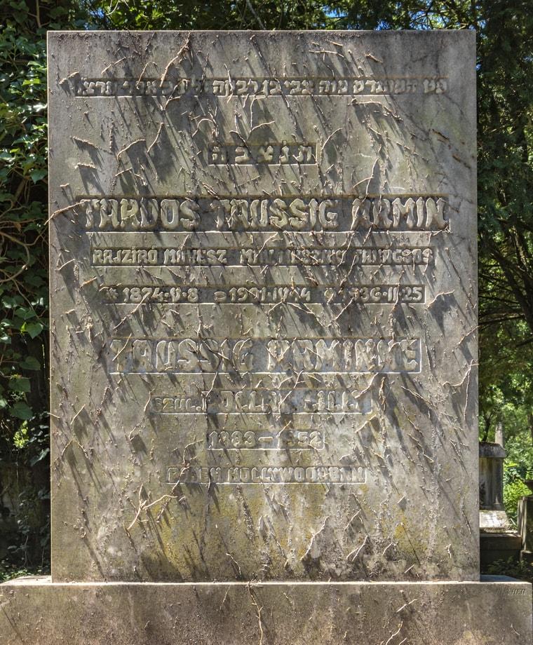Grave of Graphic Artist Ármin Tardos-Taussig